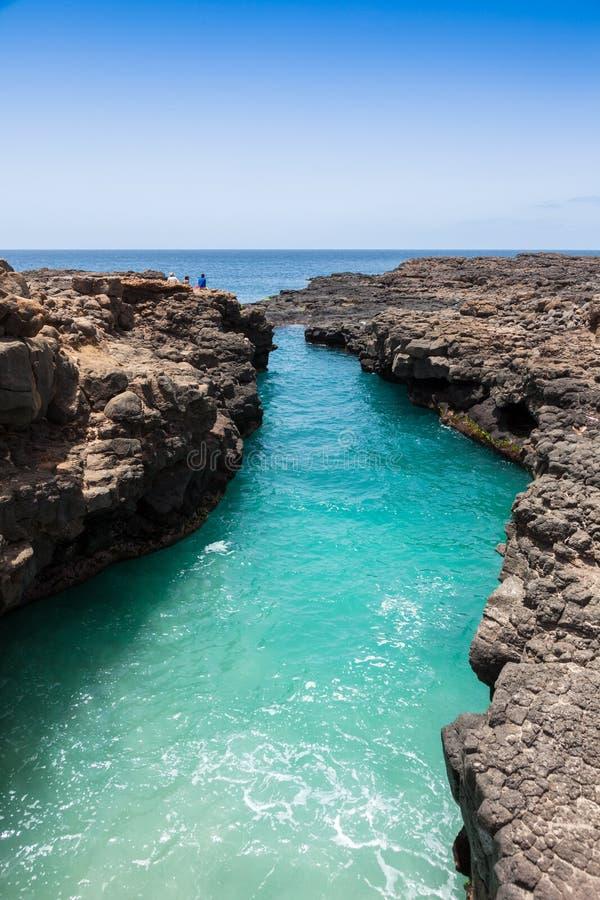 Buracona en île de sel Cap Vert - Cabo Verde photo stock
