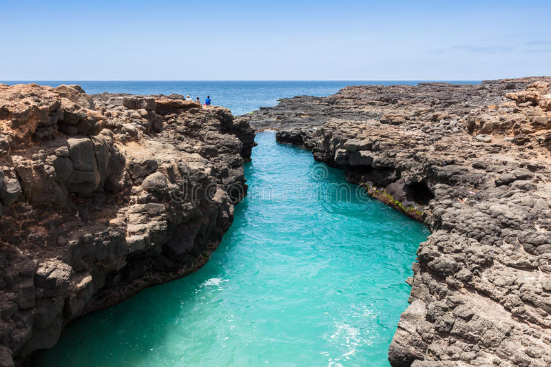 Buracona en île de sel Cap Vert - Cabo Verde image stock