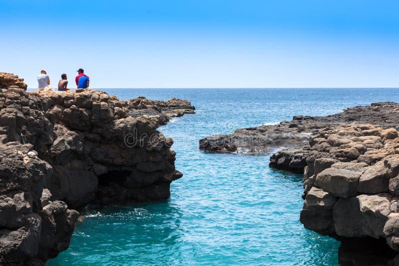 Buracona en île de sel Cap Vert - Cabo Verde images libres de droits