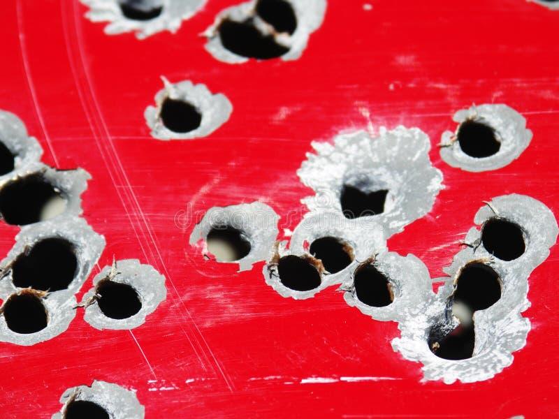 Buracos de bala fotos de stock