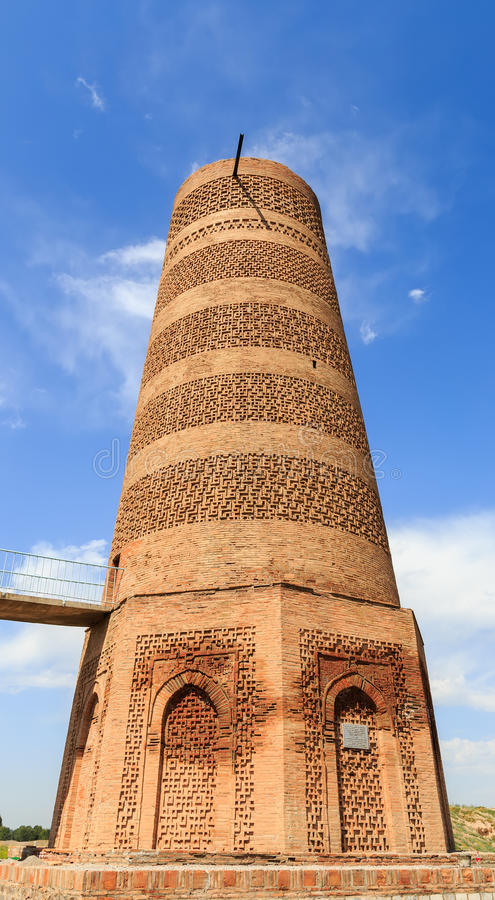 Burana Tower. An architectural monument of the XI century. Kyrgyzstan.  royalty free stock photo