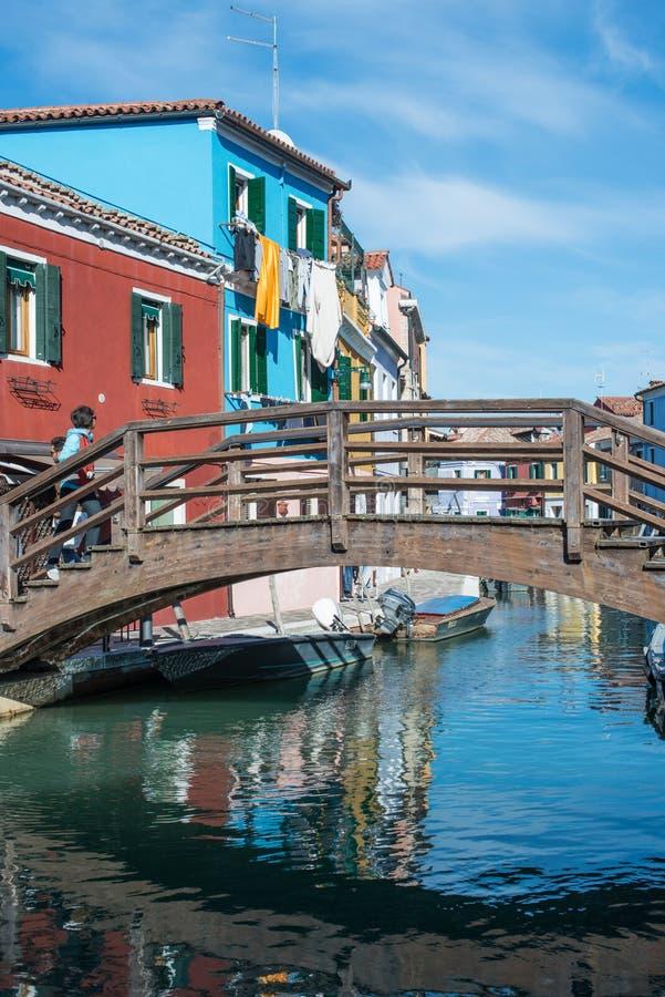Burano威尼斯威尼托意大利欧洲 免版税库存照片