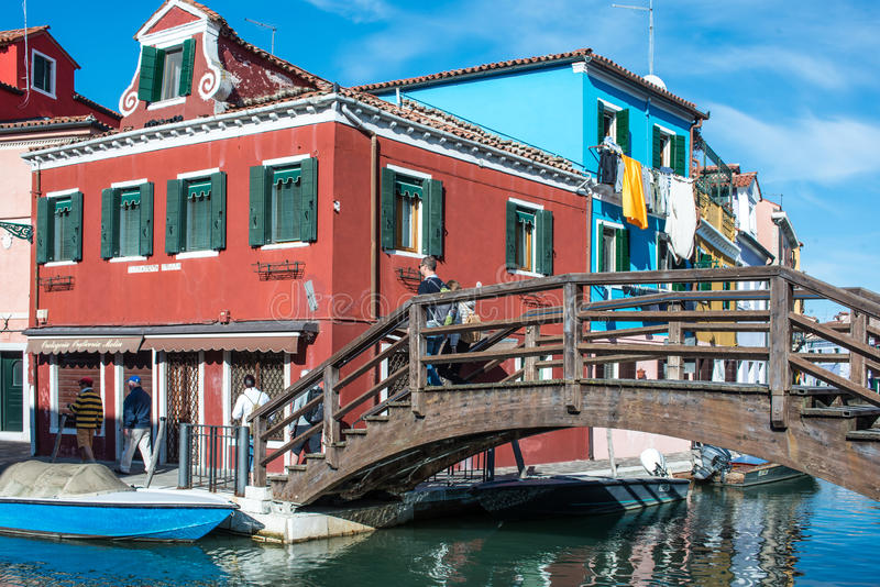 Burano威尼斯威尼托意大利欧洲 库存图片