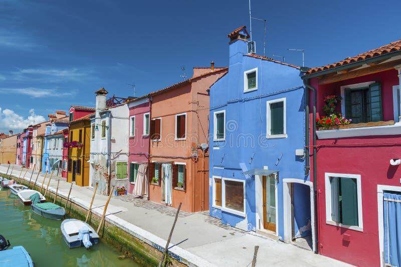 Burano海岛在威尼斯,意大利 库存照片
