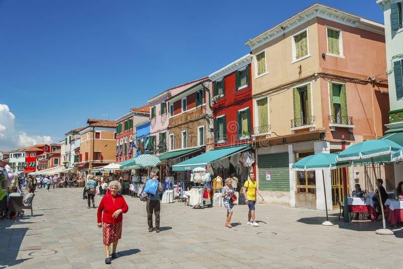 burano海岛意大利威尼斯 库存图片
