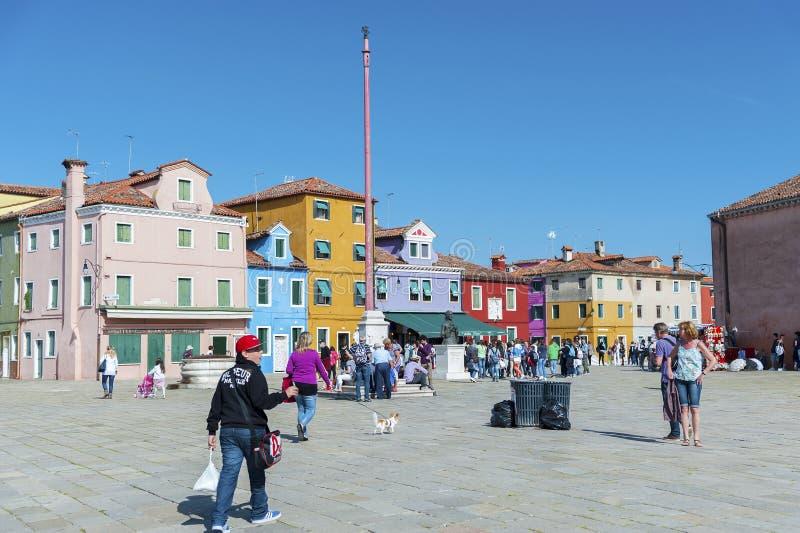 Burano海岛风景在威尼斯,意大利 库存照片