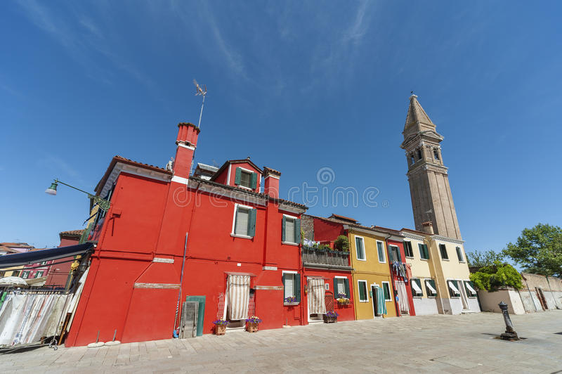 Burano海岛,威尼斯,意大利 库存图片