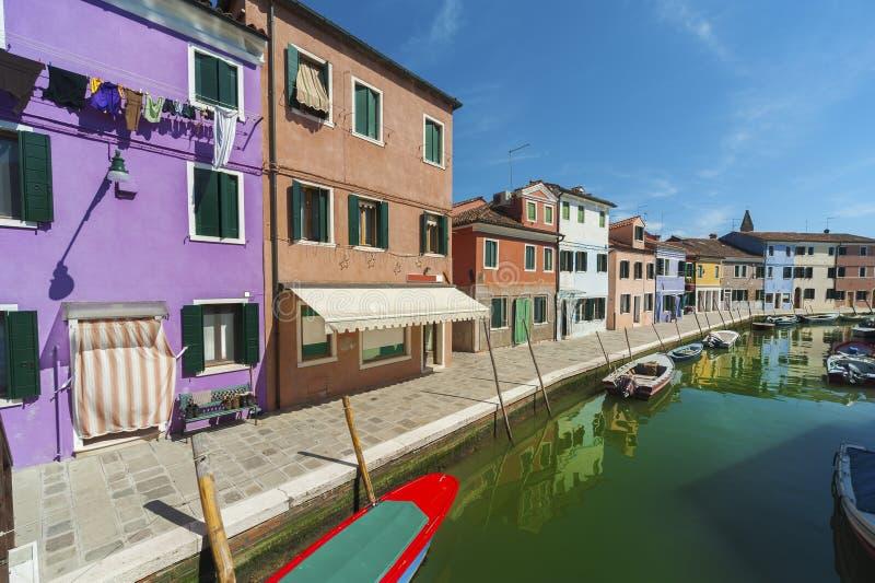 Burano海岛,威尼斯,意大利 免版税库存照片