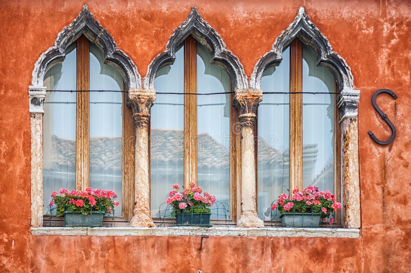 Burano色的房子  库存图片