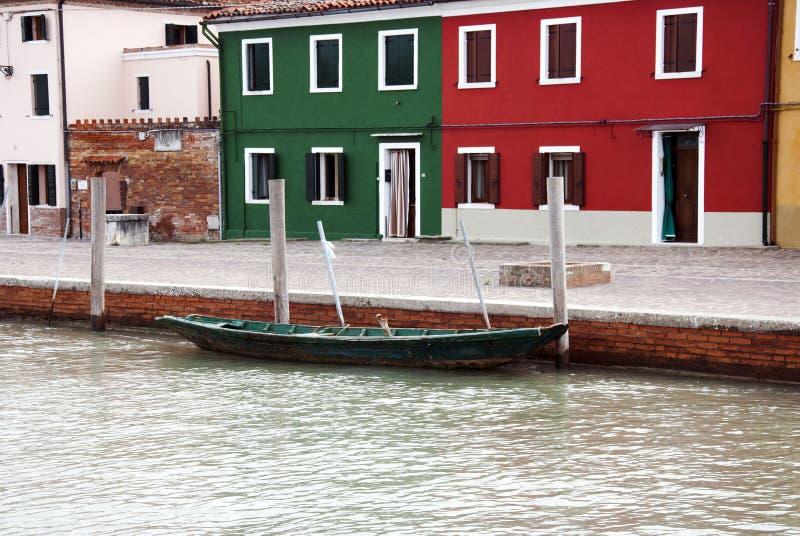 Burano ö - Venedig arkivfoton