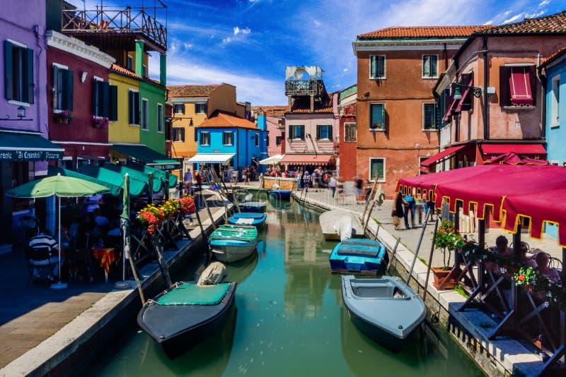 Burano意大利美丽的  库存照片