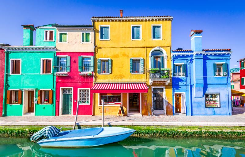 Burano, colorful water city in Venice, Italy royalty free stock photo