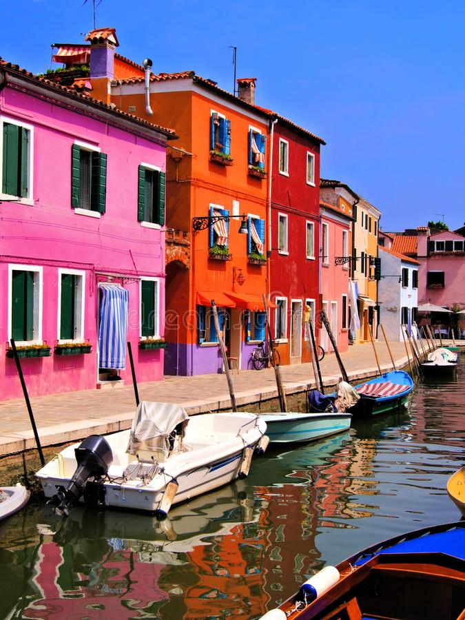 Burano Colorido, Itália Fotos de Stock Royalty Free