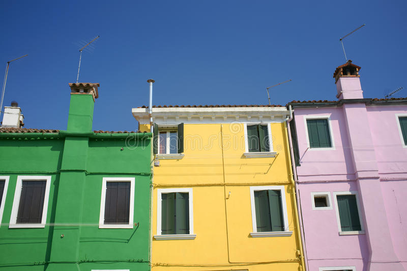 burano domy zdjęcie royalty free