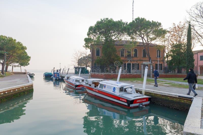 Burano, een eiland in de Venetiaanse Lagune royalty-vrije stock foto's