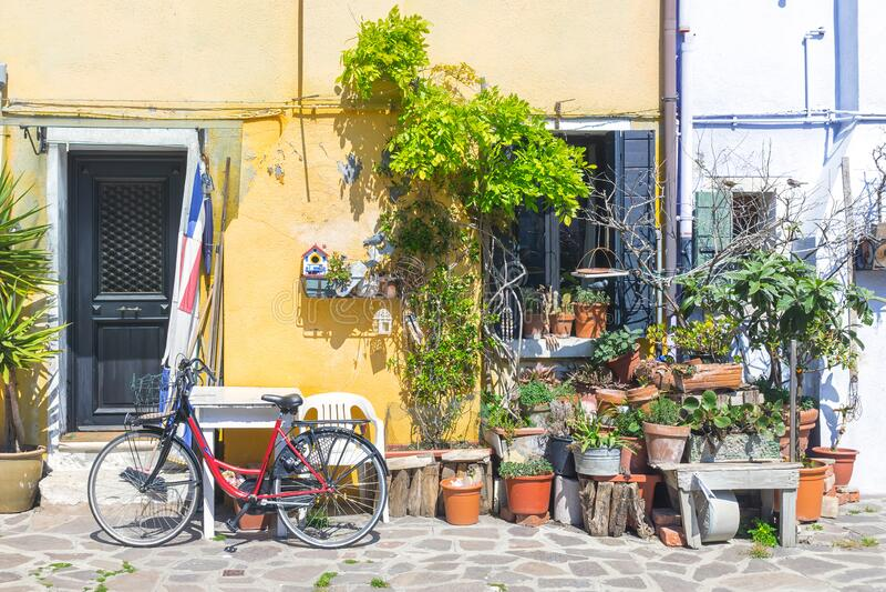Burano island in Venice, Italy.  stock photos