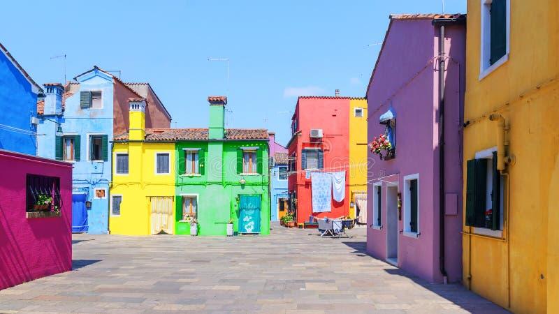 Burano island in Venice, Italy.  stock photo