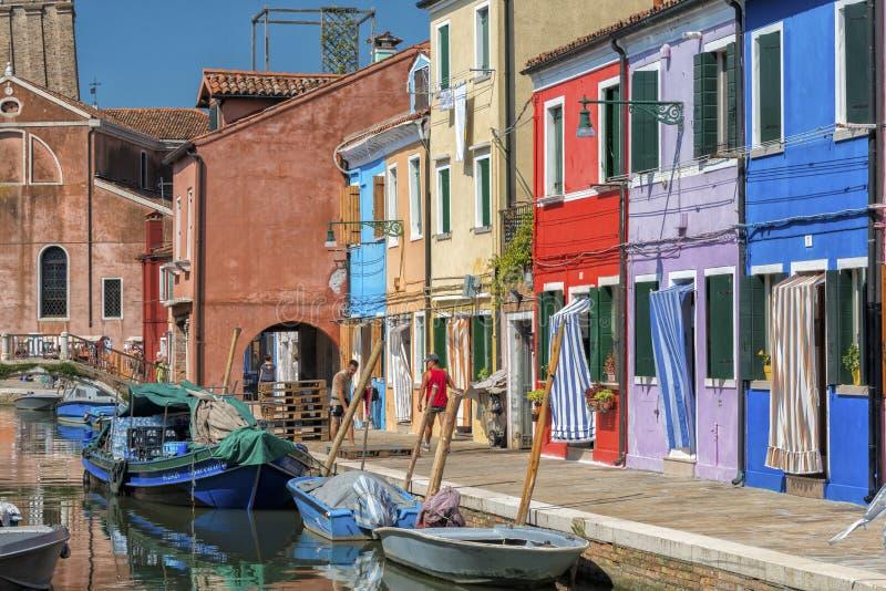Burano, Italië royalty-vrije stock afbeeldingen