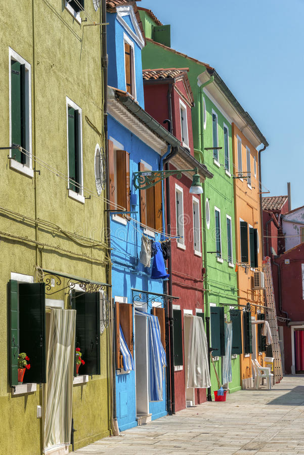 Burano, Italië stock foto's