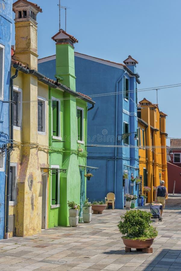 Burano, Italië stock foto