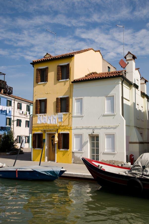 Burano, Italien stockbilder