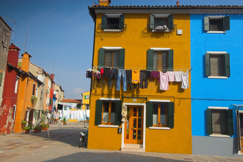Download Burano street stock photo. Image of italy, wall, pink - 9157990