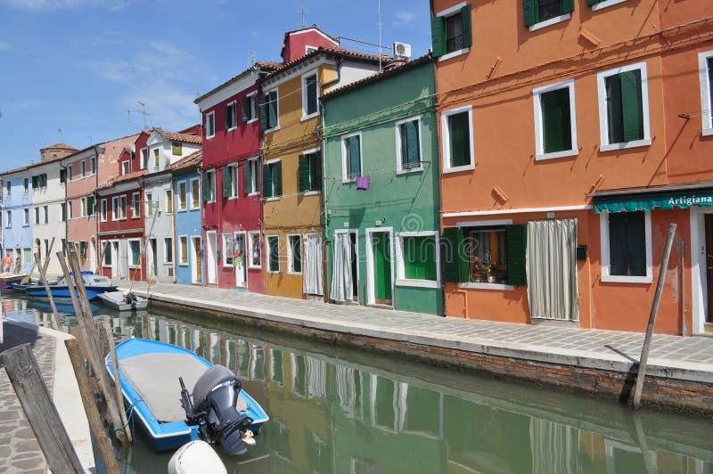 Burano in Venetië stock afbeeldingen