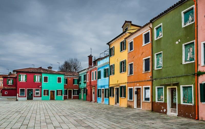 Burano, Venetië stock foto