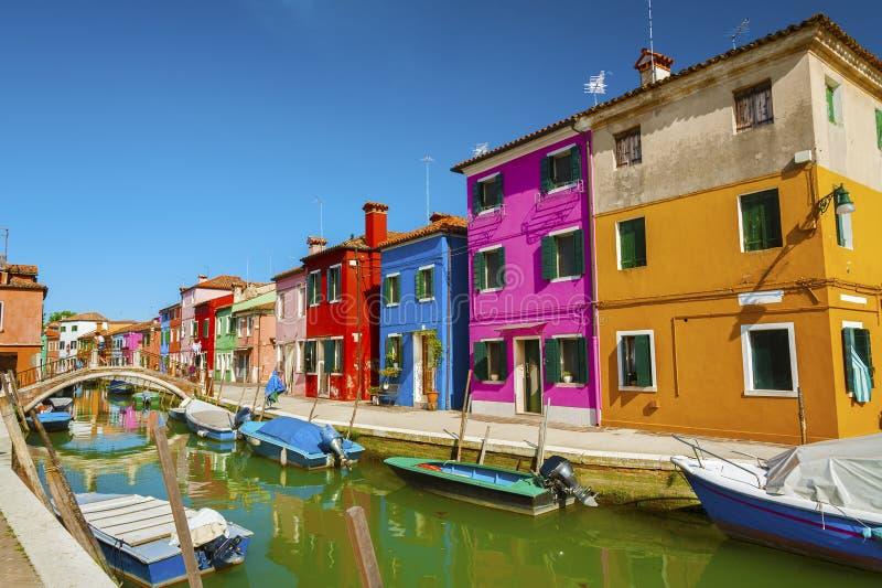 Burano, Venetië, Italië stock foto