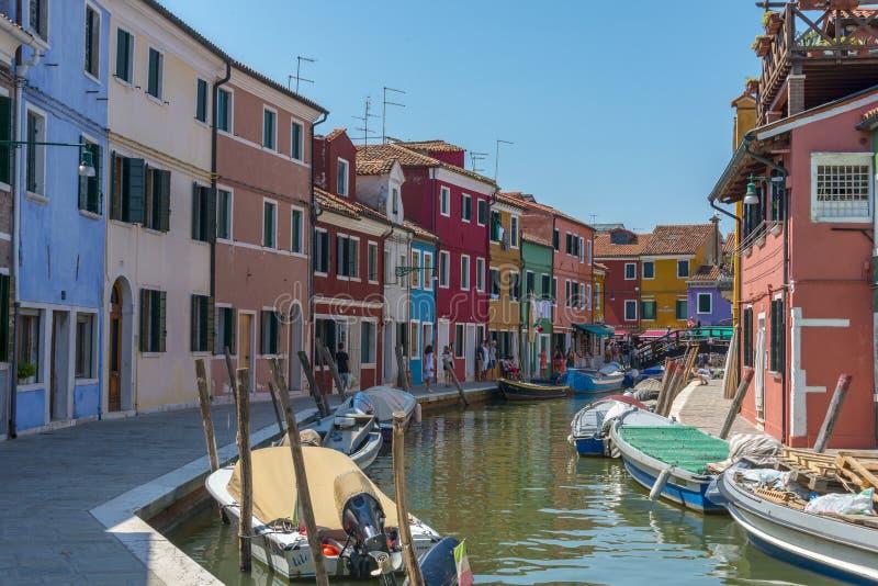 Burano Venetië Italië stock afbeelding