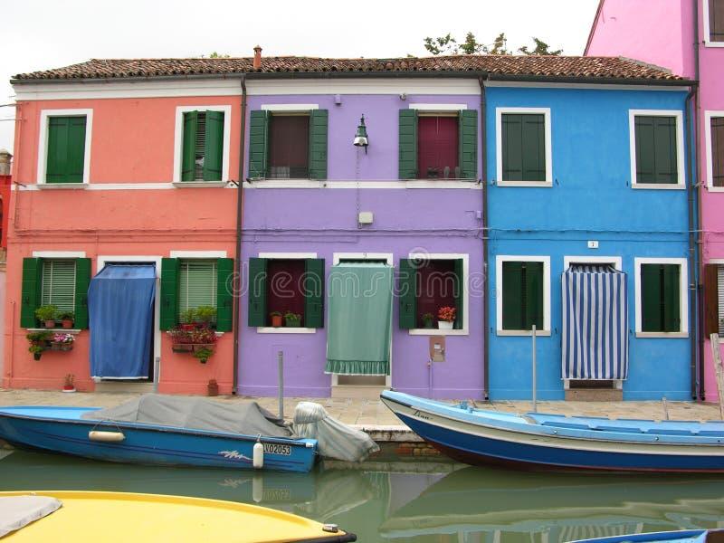 Burano Veneza Italy fotos de stock