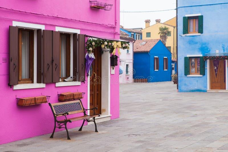 Burano, Venezia, Italia fotografia stock libera da diritti
