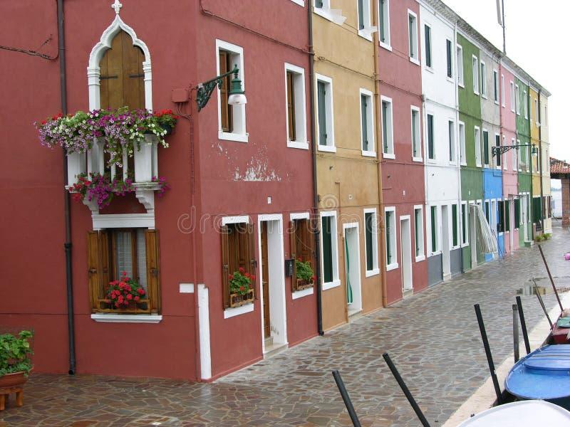 Burano Venice Italy royalty free stock photos