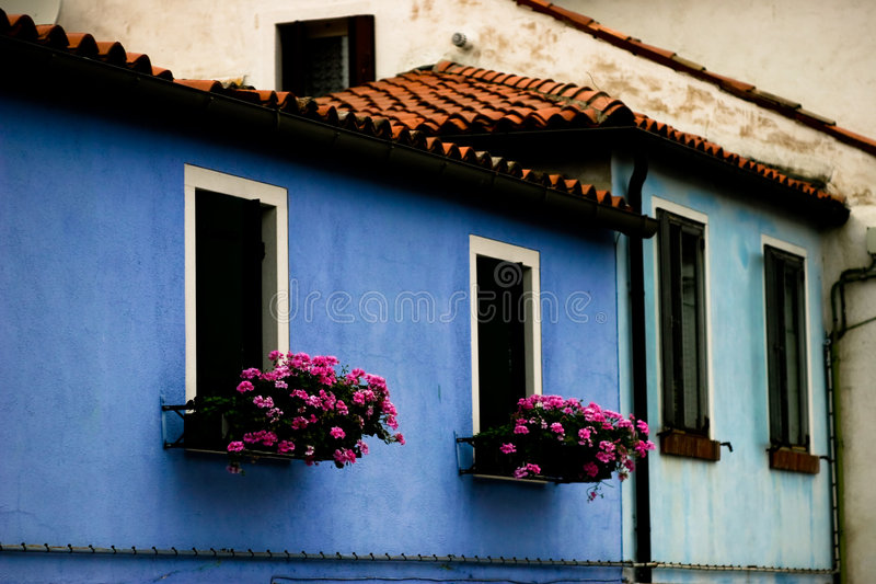 Download BURANO VENICE ITALY stock photo. Image of building, pink - 7635770