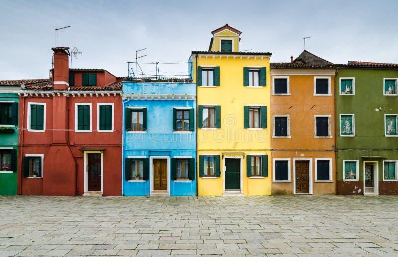 Burano, Venice. Italy, Channel view of Burano colorful village, landmark of Veneto region stock photography