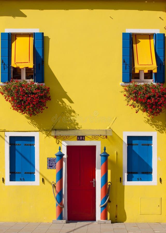 Free Burano, Venice Lagoon - Yellow House Stock Photo - 26200630