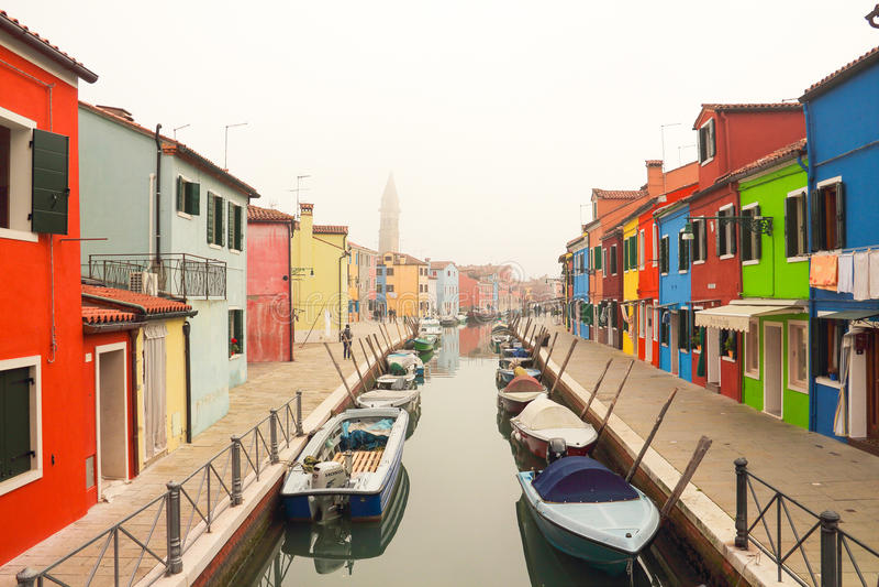 Burano w Wenecja zdjęcia stock