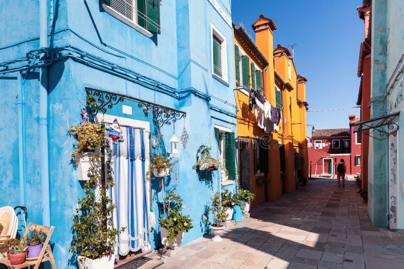 Buranoeiland met kleurrijke huizen royalty-vrije stock afbeelding