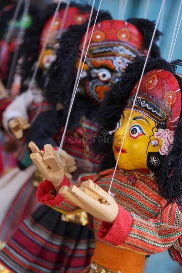 Burattini del Nepal immagine stock libera da diritti