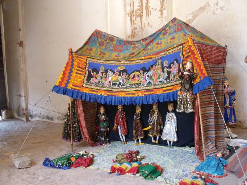 Burattini tradizionali di Rajasthani (kathputli) fotografia stock libera da diritti