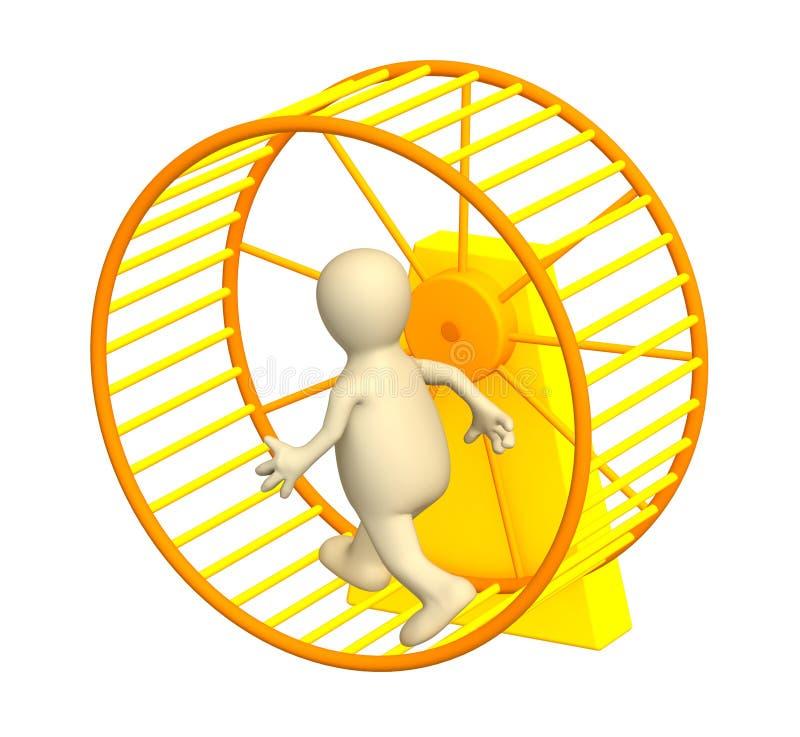 Download Burattino 3d, Funzionante All'interno Di Una Rotella Illustrazione di Stock - Illustrazione di occupazione, persona: 7310032