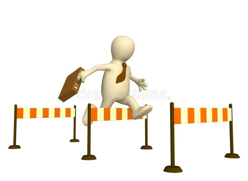 Download Burattino 3d, Saltante Attraverso Una Barriera Illustrazione di Stock - Illustrazione di azione, difficile: 7310074