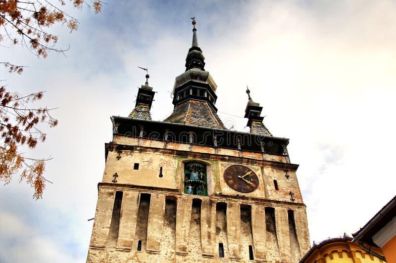 Burattino della torre di orologio immagine stock