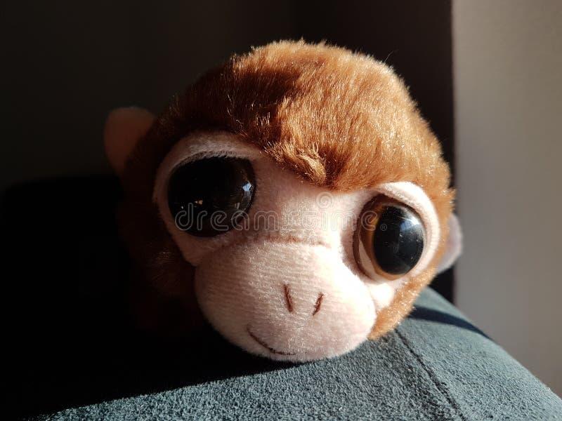 Burattino dolce della scimmia immagine stock