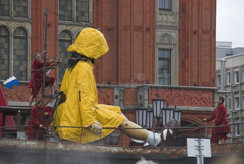 Burattino gigante a Berlino immagini stock libere da diritti