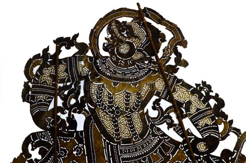 Burattino tailandese tradizionale dell'ombra di stile illustrazione vettoriale