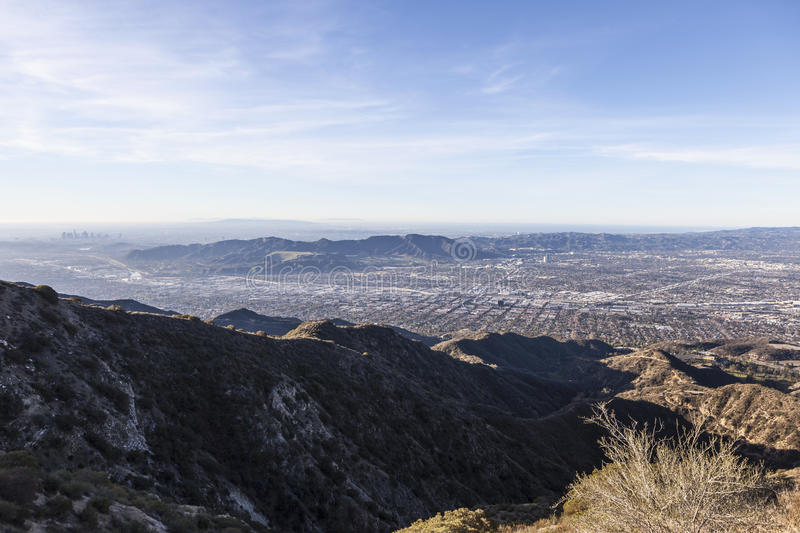 Burbank och Los Angeles Mountain View royaltyfri fotografi