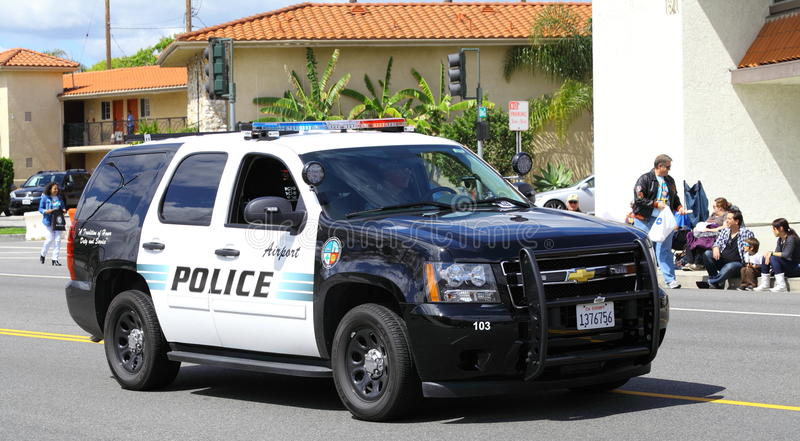 Download Burbank Police SUV editorial photo. Image of lights, accident - 24349366