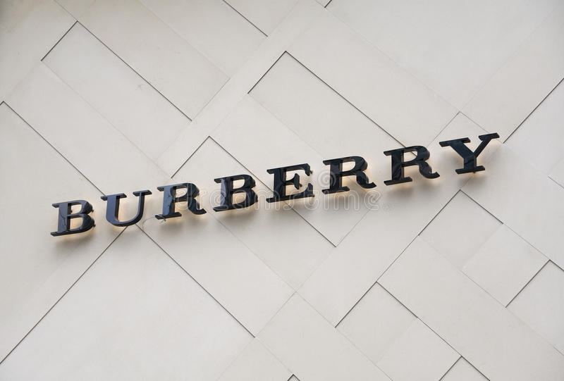 Burberry brand royalty free stock photography