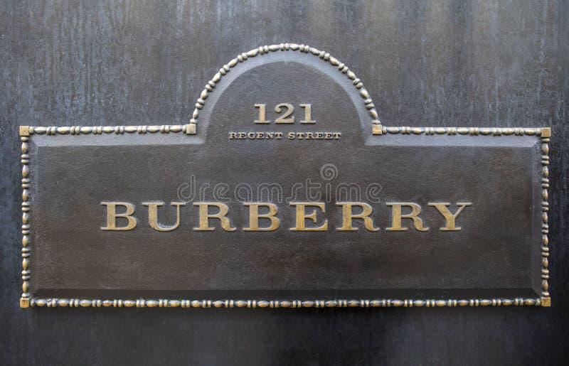 Burberry in Londen royalty-vrije stock foto's